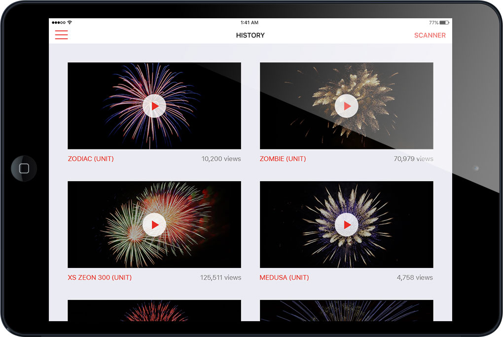 Fireworks Viewer - tablet view
