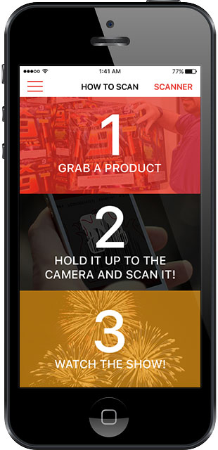 Fireworks Viewer - Mobile iOS screen