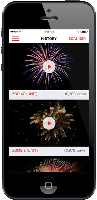 Fireworks Viewer - video on iOS device