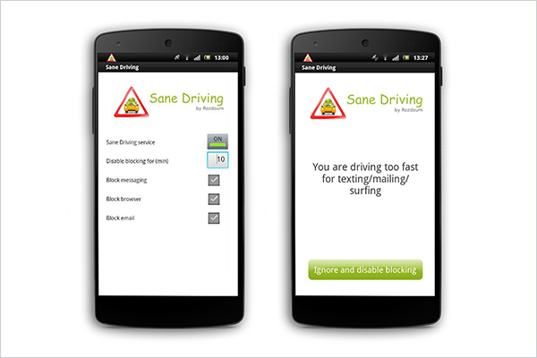 Sane Driving Application