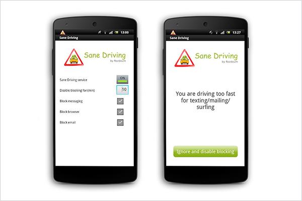 Sane Driving Application