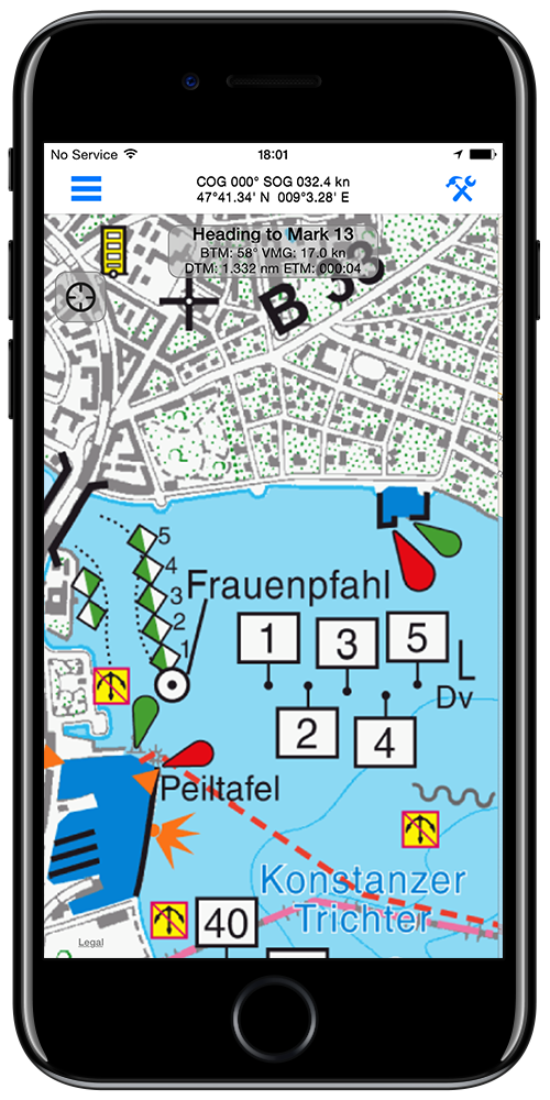 App for sailors iPhone version