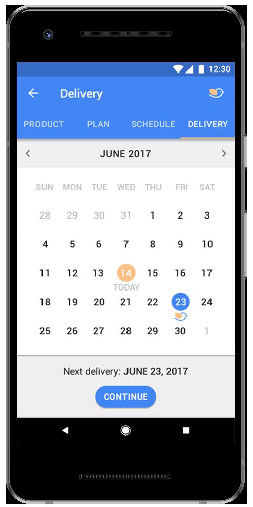 Baby Formula Shopping App Android screen