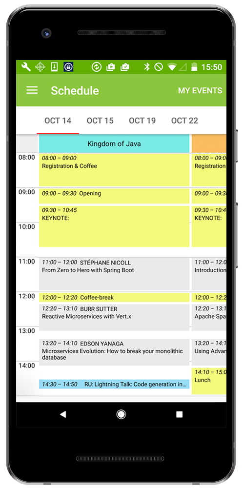 Eventor by Rozdoum Android