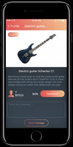 Developed gift app