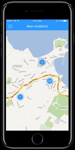 Built-in maps in app