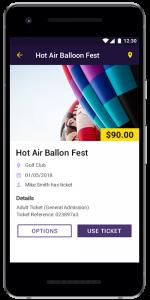 Ticket Storing App case