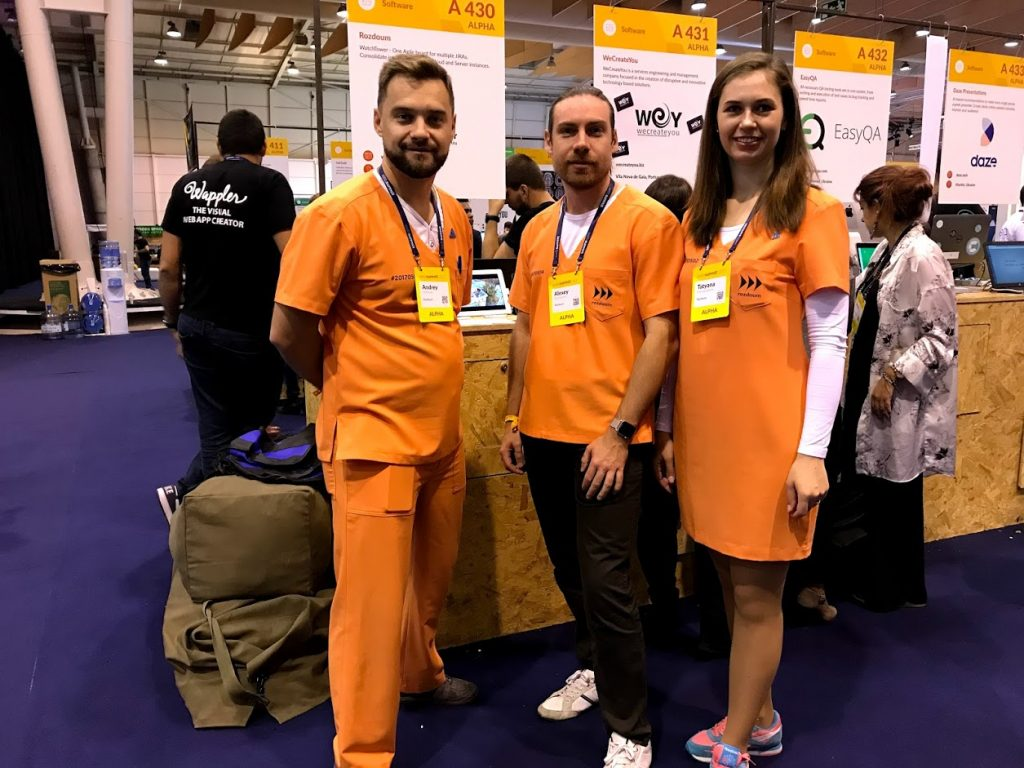Rozdoum Team at WebSummit 2018