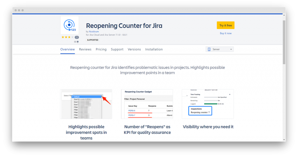 Reopening Counter For Jira