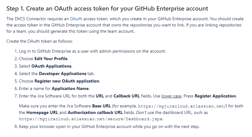 an OAuth access token for your GitHub Enterprise account