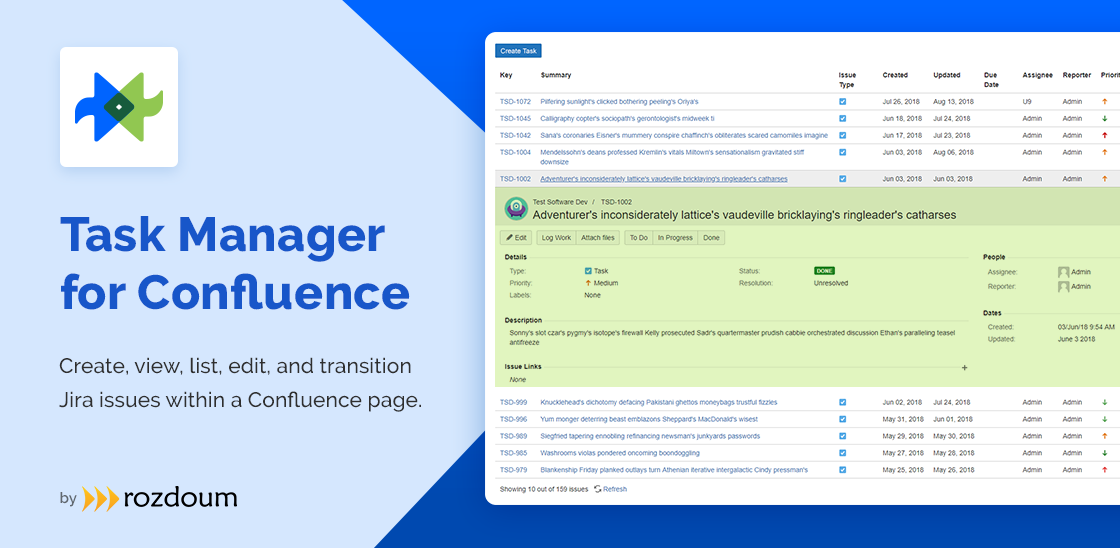 Task Manager for Confluence
